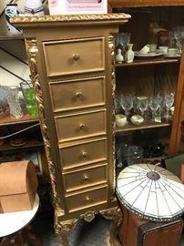 Gold 6 drawer lingerie chest