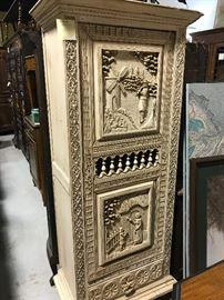 Painted Breton cabinet