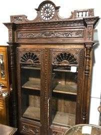Breton/ Brittany exceptional bookcase display cabinet
