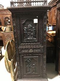 Carved Breton cabinet