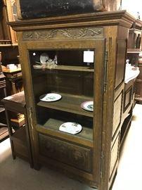 Breton display cabinet