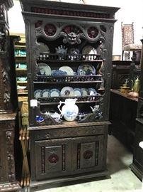 RARE! Breton/ Brittany carved cupboard