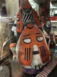 Beaded African Headdress- pair