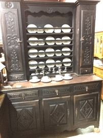 Early Country French vaisselier cupboard- 1850's