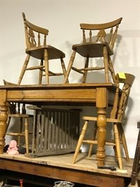 Pine French farmhouse tables-several