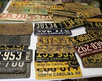 Old NC License Tags