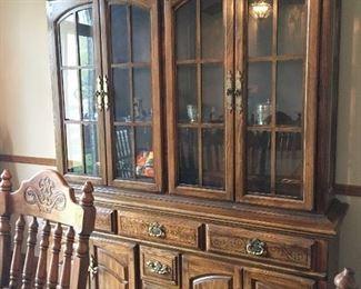 Matching china hutch, sold as set or split - Very nice