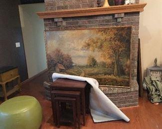 nesting tables, ottoman, Large print - Landscape