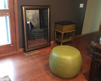 Medium size mirror, side table(sold), rugs
