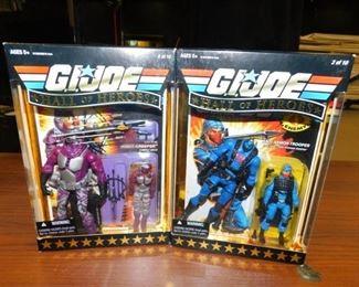 collection of custom GI Joe action figures