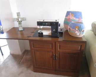 """Viking Husqvarna 150"" Sewing Machine in Cabinet"