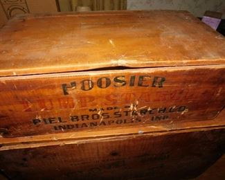 Old Hoosier Lump Starch Wooden Advertising Store Box