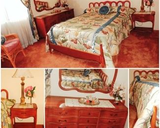 FULL SIZE FRENCH PROVISIONAL BEDROOM SET