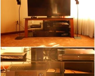 FLATSCREEN & BOSE SURROUND SOUND SYSTEM (2 MORE SPEAKERS NOT PICTURED