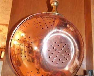 Copper with Zinc Lining Colander