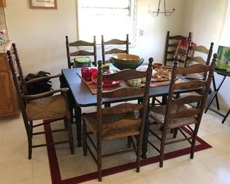 Vintage Straw Bottomed 8 Chairs