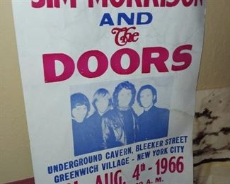 Jim Morrison & The Doors Concert Poster