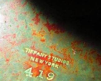 Mark on base of Tiffany studios lamp