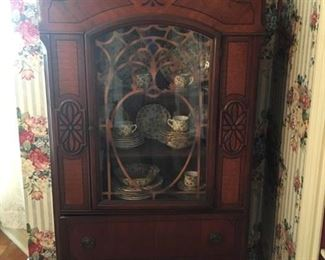 CARVED VICTORIAN CHINA CABINET