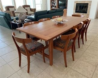 Beautiful Dining Room Set with extensions with eight chairs
