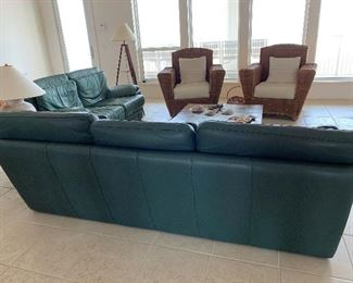 Leather Couch and Matching Love Seat