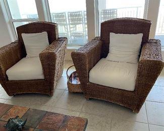 Nice Large Wicker Chairs