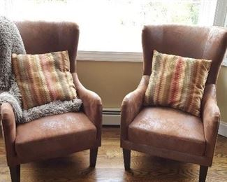 Wing-back chairs