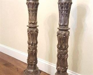 Giant candle holders (great statement decor)