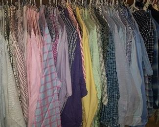 Tons of Mens XL Ralph Lauren, Brooks Brothers and Burberry (one or two) dress shirts!   Also a few vintage L & XL Bugle Boy, Chess King, Gap, LL Bean, Brooks Brothers and more.