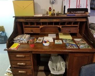 Antiques roll top desk from dr. office out of Adrian MI.  Appraised April/2019