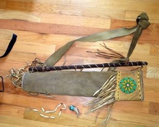 Native American beaded quiver