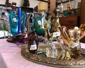 Czechoslovakia Crystal Figurines and Vases