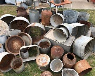 Galvanized Pots & Tubs, Metal Carts