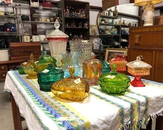 Vintage Candy Dishes  and Vases