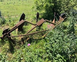 Yard Art - iron Implememts