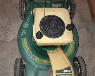 Rally p 22 inch lawn mower self-propelling