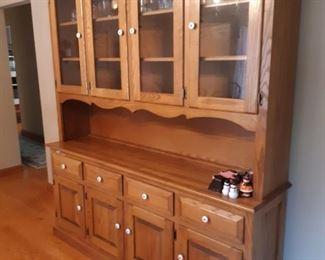 Amish sideboard china cabinet