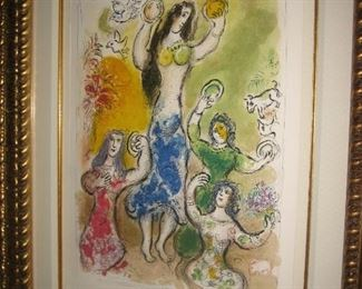 Chagall Litho with certificate, the story of Exodus, and Miriam the prophetess