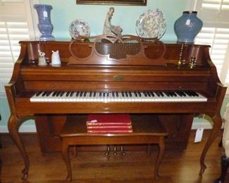Kohlet & Campbell Upright Piano with Bench & Sheet Music