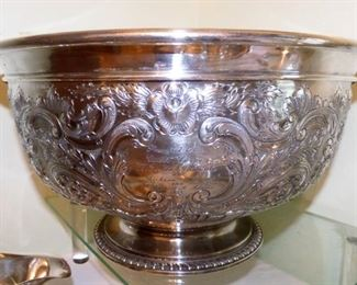 Reed & Barton Chased Silverplate Punch Bowl