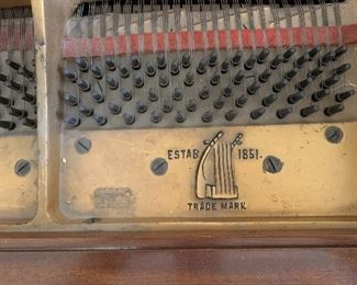 Vose & Sons Antique Baby Grand Piano38x57x67inHxWxD