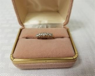 14K Gold Ring with Diamonds https://ctbids.com/#!/description/share/146087