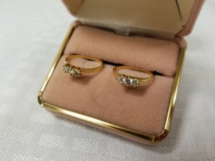 2 14k Gold Rings with Diamonds https://ctbids.com/#!/description/share/146096