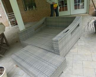 outdoor sofa, comes with cushions
