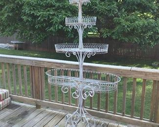Vintage wire French plant stand