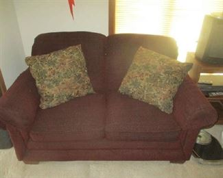 Matching loveseat with pillows
