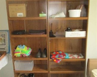 Bookcases and household items