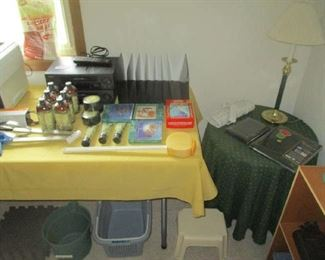 Household items and end table