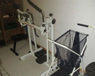 Exercise equipment and cart