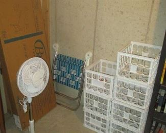 Fan and crates